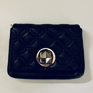 Kate Spade black quilted crossbody purse